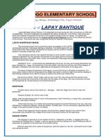Lapay Bantigue Literature