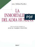 La Inmortalidad Del Alma Humana - Antonio Millán-Puelles