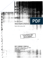 DNV (1981) Rules for Submarine Pipeline System