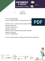 Agenda Zilei - Explorator În Educaţie 5 Octombrie 2019