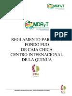 Reglamento de Caja Chica - Ciq