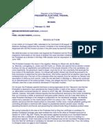 Santiago v. Ramos, P.E.T. Case No. 001, February 13, 1996