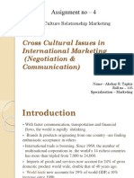 Cross Cultural Issues in International Marketing Assi 4