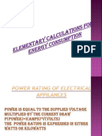 Elementary Calculations for Energy Consumption