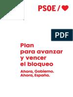 La propuesta del PSOE para evitar el bloqueo