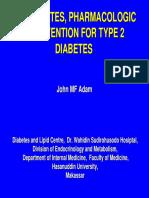 Prediabetes, Pharmacologic Intervention for Type 2 Diabetes