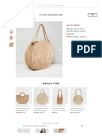 1Mango Circular Straw Shoulder Bag in Natural