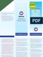 November 29, 2010 Quarterly MetroBus Service Change Brochure