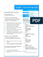 Cv Horomanski Ivan