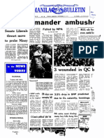 Manila Bulletin Front Page September 22 1972