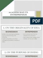 Entrep Businessman vs Entrepreneur