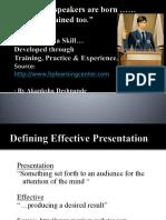 Presentation Skills PPT New
