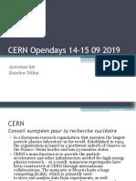 CERN Opendays 14-15 09 2019 . Bazeliuc Mihai.