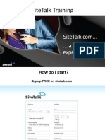 SiteTalk Training