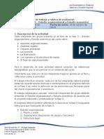 Guía de Trabajo y Rubrica de Evaluación - Unidad 4 - Fase 3 - Estudio Organizacional y Estudio Económico