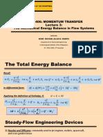 CHE 406 - Lecture 3 (1) MOMENTUM TRANSFER