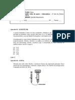 2 Ano - FISICA 1 Apoio Hidrostatica