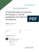 A representação de matrizes de rotação e o uso de quaténio em Ciências Geodésicas