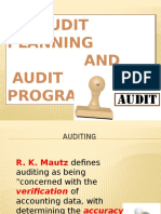 Audit Plan and Program