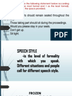 Speech Styles