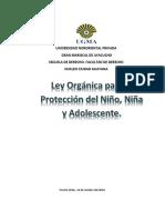 Ley Orgánica Para La Protección Del Niño