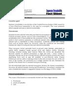 Fact Sheet WH Japanese Encephalitis