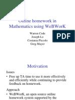 Math WebWorkPoster