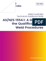 Weld Australia Guidance Note TGN SG06 as NZS 1554.1 a Guide to the Qualification of Weld Procedures