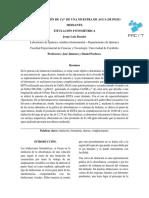 Informe de Titulación Fotométrica de Calcio en Agua de Pozo