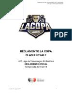 Reglamento La Copa Temporada 2018-2019 - Clash Royale