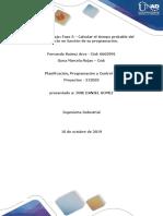 GRUPO_212055_7_Anexo Fase 3 -Calcular El Tiempo Probable Del Proyecto en Función de Su Programación