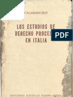 Los Estudios de Derecho Procesal en Italia Piero Calamandrei