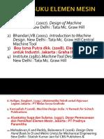 (1) Daftar Buku Elemen Mesin-1