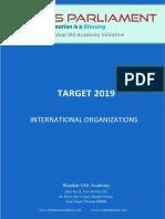 Target 2019 International Organisations Www.iasparliament.com1