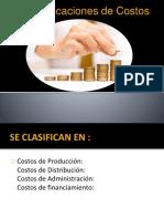 Clasificaciones de Costos