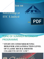 1presentation on Sip Itc Ltd Prakash