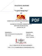 Aditya Birla Capital Budgeting