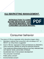 Marketing Management-Introduction to Consumer Behavior.