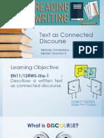 RW PPT Text vs. Discourse