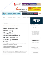 H.M. Seervai Gold Medal Essay Competition in Constitutional Law by NLSIU Bangalore_ Submit by June 15 - Lawctopus.pdf