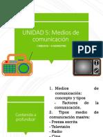 UNIDAD 5 - MEDIOS DE COMUNICACIÓN - I MEDIO (2)