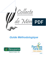 Guide Methodologique Collecteur de Memoires - Fevrier 2009