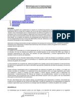 Metodologia Para Implementar Un Sistema ISO9000
