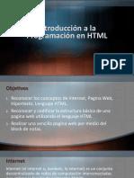 Clase1-Introduccion a La Programación en HTML