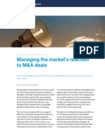McKinsey - Managing the Markets Reaction to M&a Deals