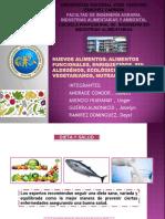 Exposicion (2) Nuevos Alimentos Funcionales, Enrequecidos, Alargenos, Ecologicos, Vegetarianos, Nutraceuticas Tros