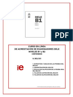 B1 B2 En Línea Contenidos Ii Deleb1 2017 2 Cuestionario
