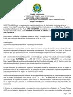 CERTIDÃO DE NOEMIA  BENTO DE OLIVEIRA