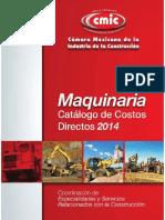 Maquinaria - Catálogo de Costos Directos 2014