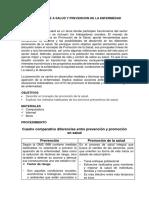 Informe Promocion de a Salud y Prevencion de La Enfermedad